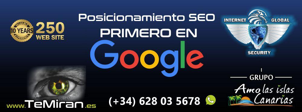 agencia seo tenerife islas canarias posicionamiento primero en google tenerife sur norte temiran te miran